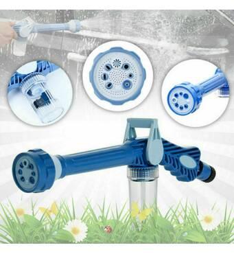Универсальный Распылитель Водомет EZ Jet Water Cannon Original Насадка на Шланг Для Полива, Водяная Пушка для Мойки Авто, Мультифункциональный Пистолет
