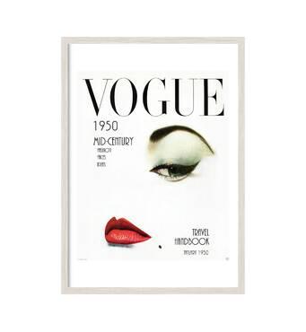 """Постер """"VOGUE. vol. 1"""" із склом антивідблиску  29.7 x 42 см у білій рамці"""