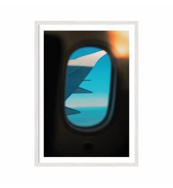 """Постер """"Plane"""" із склом антивідблиску 59.6 x  84 см у білій рамці"""