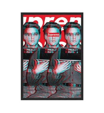 """Постер """"Supreme - Elvis Presley"""" без скла 59.6 x 84 см  у чорній рамці"""