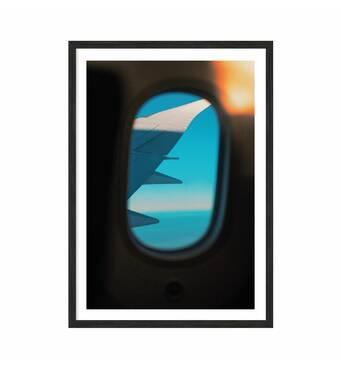 """Постер """"Plane"""" без скла 42 x 59.4 см в чорній  рамці"""