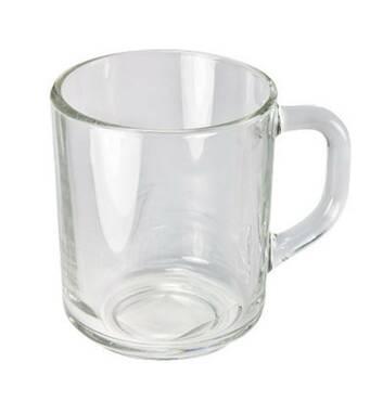 Кружка  чайная стеклянная  300 мл  1208  Опытный стекольный завод(23-4)