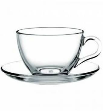 Чашка Pasabahce Basic чайная с блюдцем 240 мл  97948 (24-184)