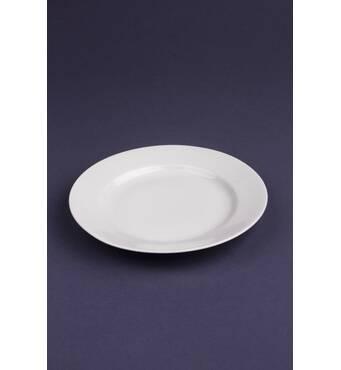 Тарілка  дрібна керамічна біла 20 см (29-2)