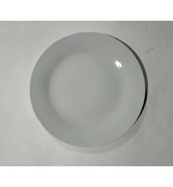Тарелка  керамическая  мелкая  белая  200 мм  ТМ Все дома (34-4)