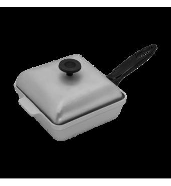 Сковорода гриль  алюмінієва 260 мм з кришкою   (65-266)