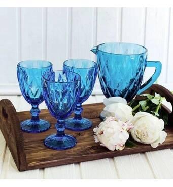 Набор  для напитков 7 пр. Оленс Изумруд синий  (72-61)