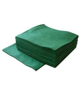 Салфетка двухслойная  33х33  см  зеленая 100 шт Украина 56-221)