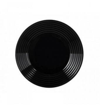 Тарілка обідня  Harena 25 см  чорна (70-378)