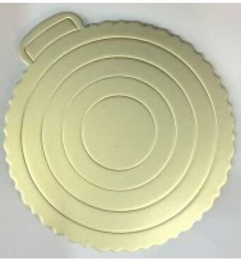 Підкладка для торта  срібляста 220 мм 0288 (74-1166)