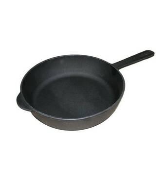 Сковорода чавунна  200*40 мм з  литою ручкою (73-214)