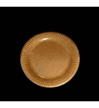 Тарелка круглая  18 см  крафт с ламинированием 100штКрафт (112-20)