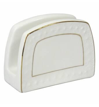 Салфетница  фарфорова  біла Снігова Королева 880408-А (36-905)