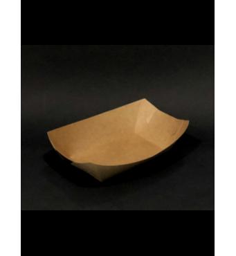 Тарелка  Лодочка   крафт с ламинацией  сборная 170*115 мм 100 шт Крафт(112-21)
