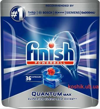 Инновационное средство для посудомоечных Finish Quantum MAX, 36 шт