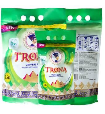 Порошок стиральный бесфосфатный TRONA Universal с отбеливающим эффектом 1 кг