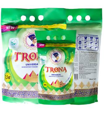 Порошок пральний безфосфатний TRONA Universal 2 кг