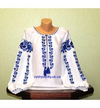 рубашка женская, лляная. ручная вышивка.