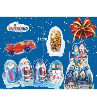 *NEW_YEAR Фігурка MIX (НОВОРІЧНА ЗУСТРІЧ) шоколад+печиво+сюрприз 22г*24