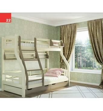 Дитяче двухьярусная ліжко Світлана (3 Спальні місця)