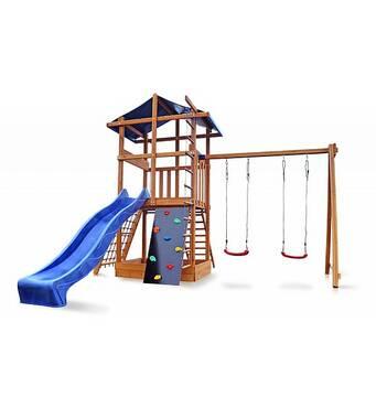 Детский деревянный игровой комплекс Babyland-3. Детская площадка для улицы