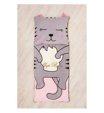 Спальний плед-конверт з разьемной блискавкою Кішечка дітям (розміри будь-які)