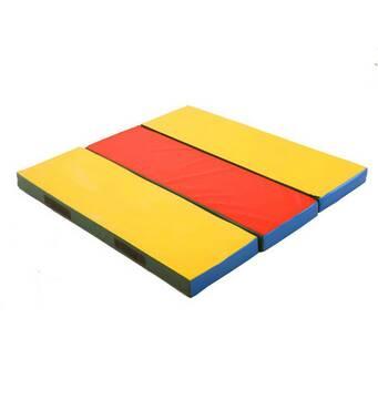 Спортивный гимнастический мат складной Лавочка 120х120x8 см детский