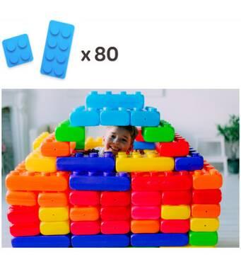 Конструктор з великих блоків 2 видів (80шт) MEGA підлоговий