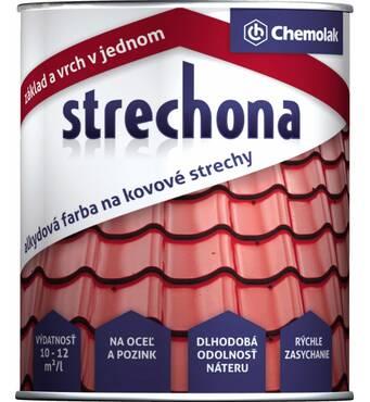"""Краска Chemolak для чёрного и оцинкованного металла """"Strechona"""" 5,2 кг. (коричневая) АКЦИЯ!"""
