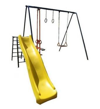 Комплекс дитячий вуличний з гойдалками і гіркою