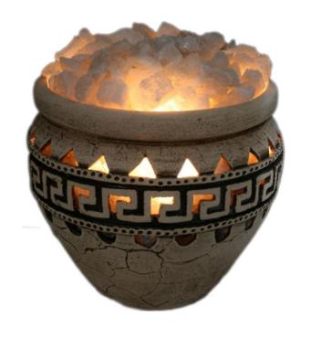 Соляна лампа третього рівня Амфора 23 кг Ваше Здоров'я