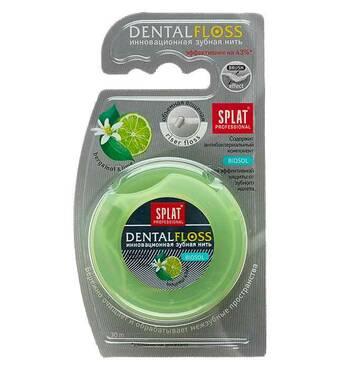 Зубна нитка DentalFloss c екстрактом бергамота і лайму 30 м Splat