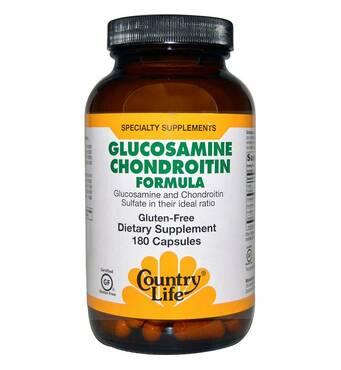 Глюкозамин Хондроитин формула 90 капсул Country Life