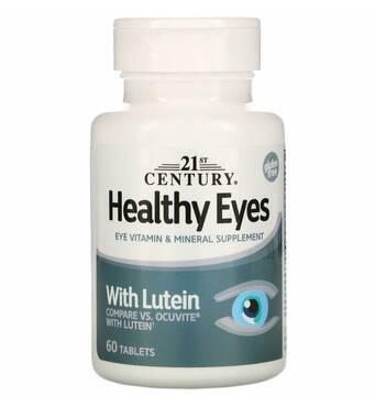 Healthy Eyes (здорові очі) з лютеїном, 60 пігулок, 21st Century