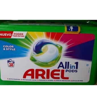Капсули Ariel 3 в 1 колор 38 шт Швейцарія