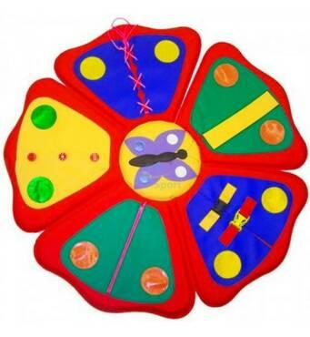 Дидактический коврик Цветочек развивающий