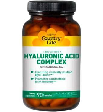Био-активный комплекс гіалуронової кислоти 90 капсул Country Life