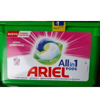 Капсули Ariel 3 в 1rквіткові універсальні, 38 шт, Швейцарія