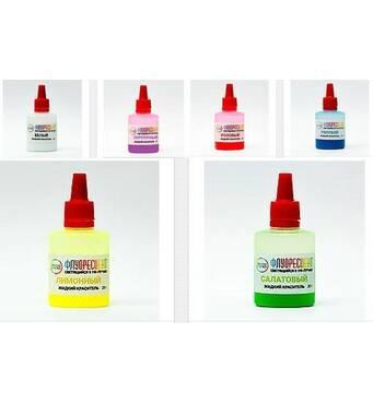 Комплект флуоресцентных жидких неоновых УФ красителей Просто и Легко для эпоксидной смолы 6х20г (102SG 151 20)