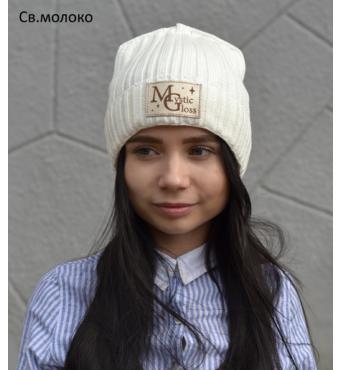 091 Блестящая шапка Мистик.Зима.р.53-57 (от 6 лет) детская/женская.