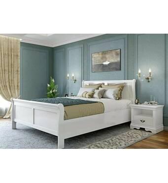 Белая деревянная кровать Луи Филиппе