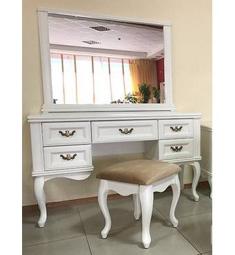 Білий туалетний столик Амальтея із дзеркалом