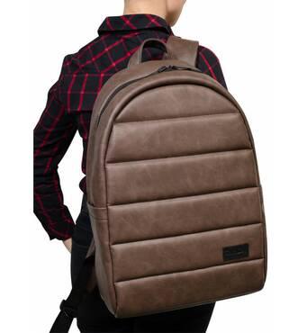 Женский рюкзак унисекс Sambag Zard LRT светло-коричневый нубук