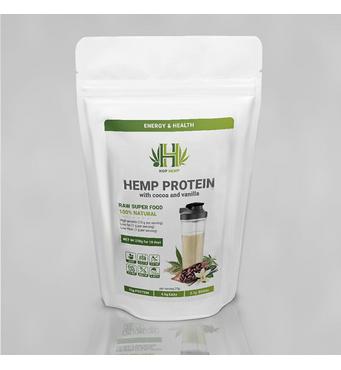 Конопляний протеїн з натуральним какао і ваніллю