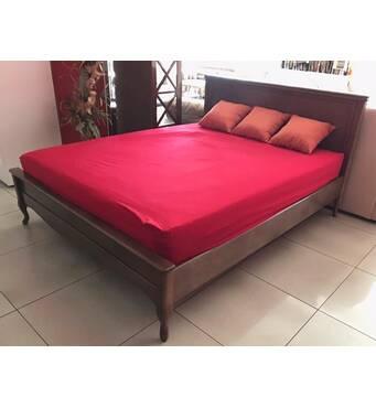 Двуспальная кровать Амальтея из массива дерева