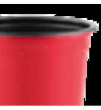 Горшок TEKU 0,69л 12x9,4см красный