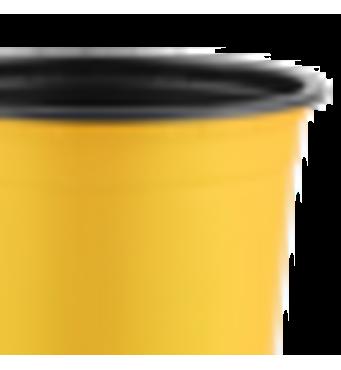 Горшок TEKU 0,89л 13x10,2см желтый