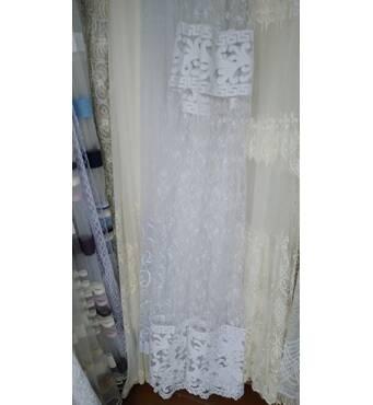 Вышивка на фатина цвет белый
