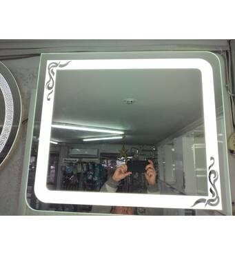 Зеркало с LED-подсветкой 600х700 мм с выключателем на взмах руки купить недорого