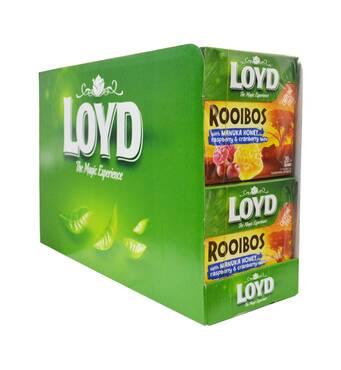 Чай в пирамидках LOYD ROOIBOS с клюквой, малиной и медом Манука,1,7г*20шт. 10 уп.